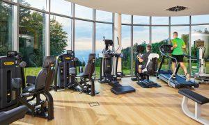 Fitnessstudio mit Ausblick