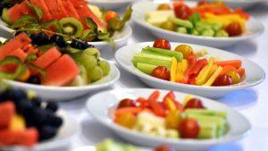 Obst- und Gemüseteller