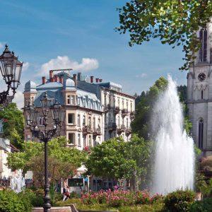 Blick in die City von Baden Baden
