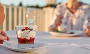 Leckeres Dessert ist gut für die Seele