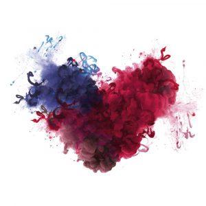 Abstraktes Herz